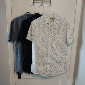 Set of 3 Button Down Short-Sleeved Shirts